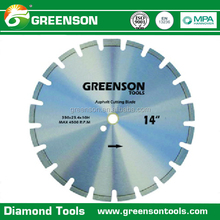 laser welded asphalt and green concrete cutting diamond saw blade with straight protect segment