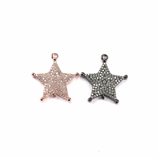 2018 newest design factory directly supply pendants jewelry accessories pentagram charms
