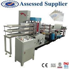 Automatic tissue paper embossed folding napkin making machinery