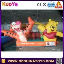 Commercial grade winnie and tigger inflatable bouncer combo with slide for sale