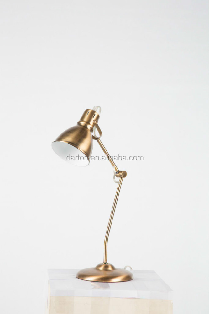 Adjustable Antique Brass Desk Lamp