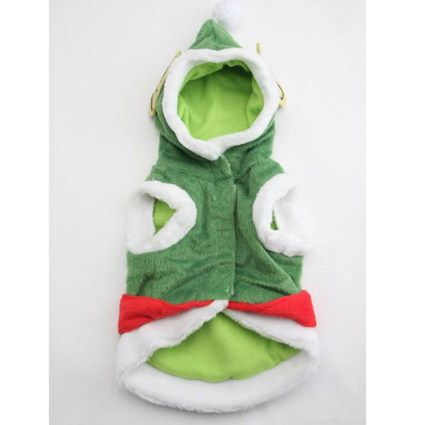 Wholesale Green Warm Pet Dog Hoodie Coat Clothes