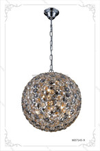 hot sale fancy crystal globe pendant lamp chrome ball pendant lamp G9*6*40W