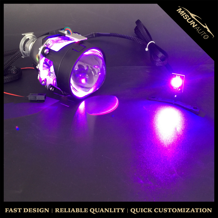 For New arrival motorcycle xenon lamp bifocal lens angel eye evil eye pedal car motorcycle headlight order