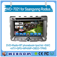 Original 7'' in Ssangyong Rodius car dvd player mp3 android system tv/radio tuner/mirror link automatically navigation CE