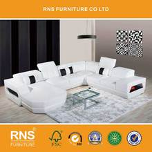 RNS modern corner sofa design, modern leather corner sofa , leather corner sofa set design