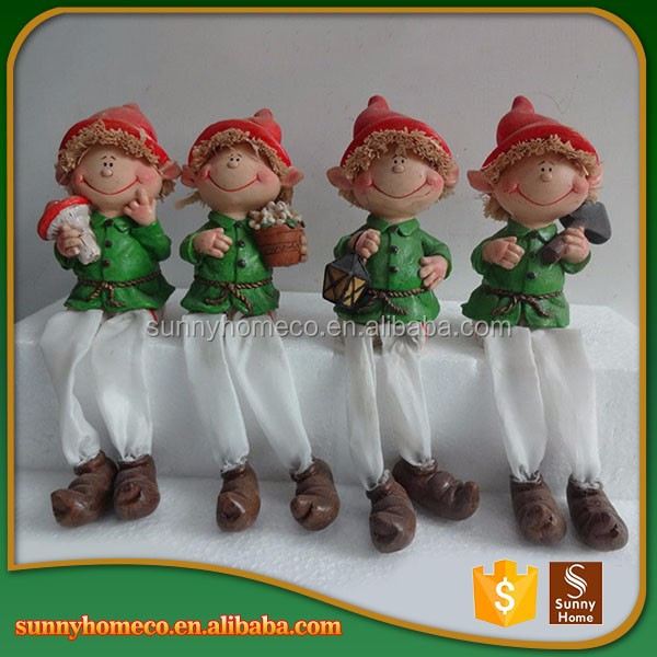 Resin Garden Decoration Chinese Baby Christmas Stand Up Gift Resin Handicraft