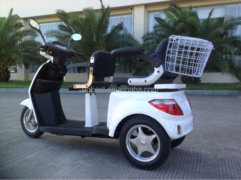 2016 most popular three wheels electric scooter with 2 person and European standards , to find more scooters at www.ugbest.com
