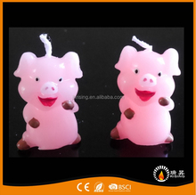 candle 2017 burning smokeless cute pig animal birthday candles