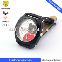 Cartoon flip top Interchangeable dial kids watches