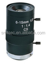 "6-15mm Focal Length,Aperture F1.4,CS Mount,1/3"" Format,Angle 50-20 degree Varifocal Manual Iris lens(SL-0615M)"