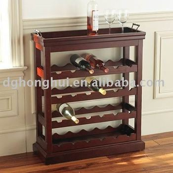 noble wooden wine shelf