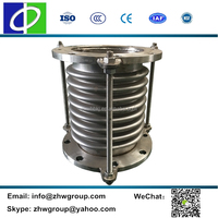 Axial corrugated joint stainless steel bellow compensators with flange