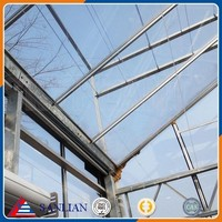 Large Multi Span Glass Agriculture Greenhouse