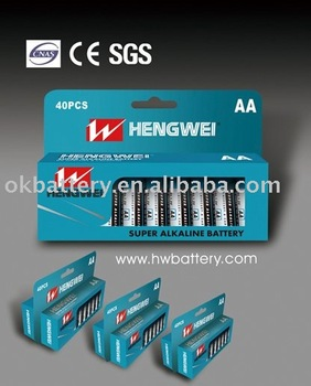 ALKALINE BATTERY AA-40PK