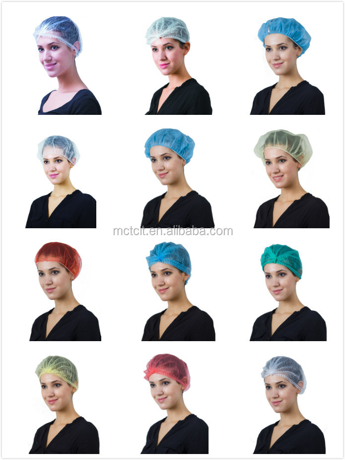 Disposable surgical non-woven mob clip cap,strip pleated cap,disposable hair cover