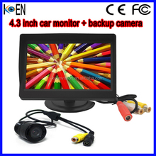 4.3 inch Two Way Inputl Digital Bus Monitor With Reverse Camera DVD Player