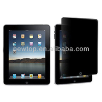 Factory Price 180 degree anti-spy privacy screen protector for ipad 2/3/4