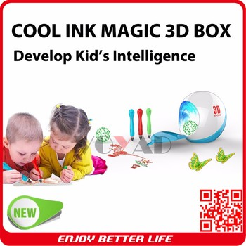 Child New year gift VOYAD 3D Cordless Printing Pen with curing box