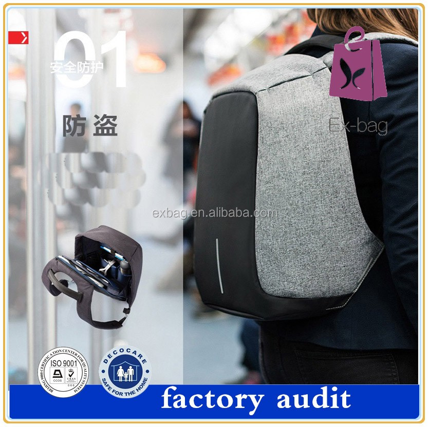 2017 new design bag waterproof antitheft business bag waterproof laptop backpack