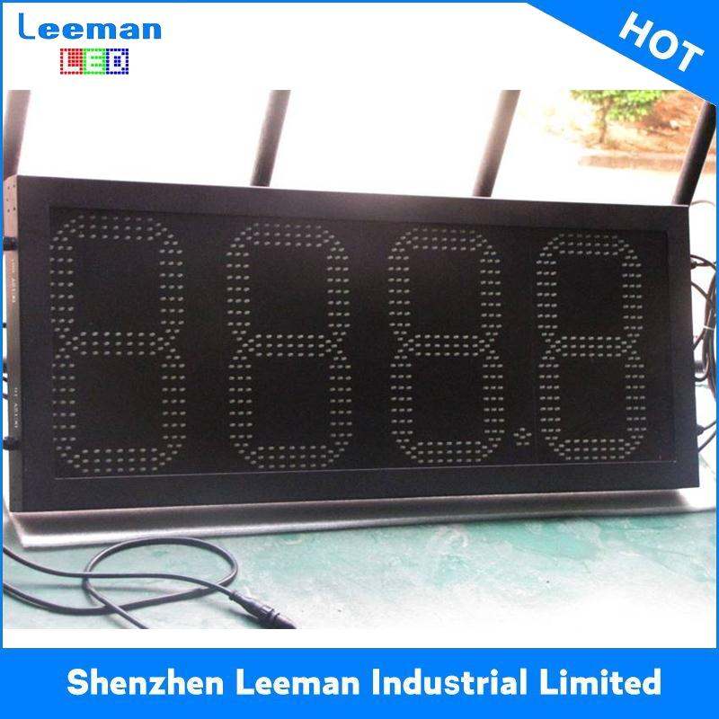 12'' 4 digit format p10 red single color digital outdoor gas station price display wall 20*160 p16 led moving screen