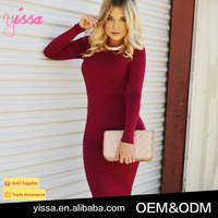 Yissa 2016 Long Sleeve Backless Women Sexy Club Wear Bodycon Bandage Party Dresses
