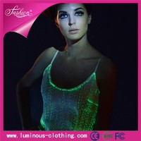 fiber optic clothing luminous led light latest fancy long tops designs for girls