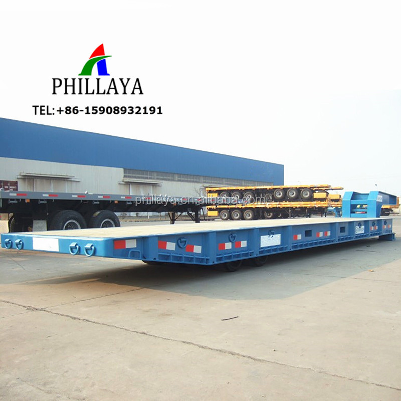 40ft Length Port Widely Used Mafi Lowbed Roller Bed Trailers