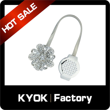 KYOK 35mm resin curtain accessories fancy good quality curtain rod accessories Classic style Chrome curtain poles hooks