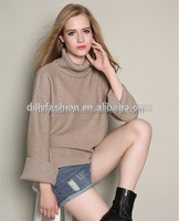 new fashion high neck ladies knitwear cashmere sweater women
