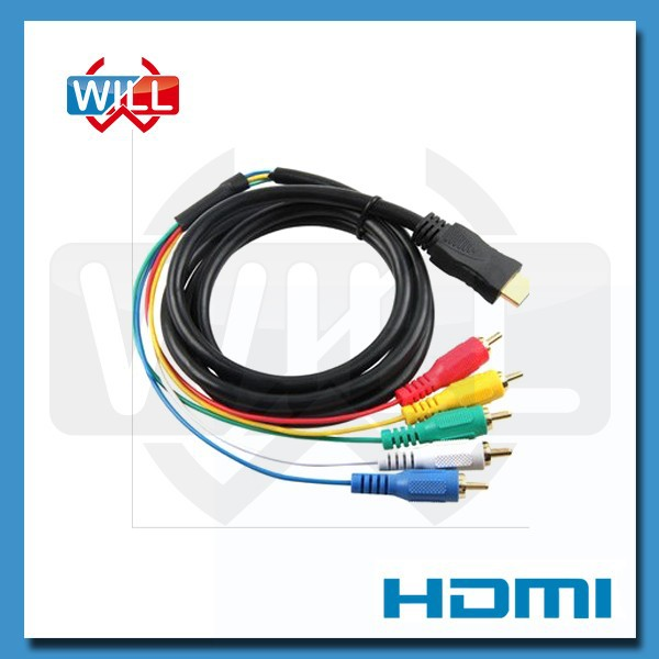 Certified factory 1.4v hdmi to rca component cable for 4k*2k for hdtv dvd