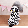 Spotted dog clothes spot pattern Dog pet Fleece Hoodies sweater cotton cloth