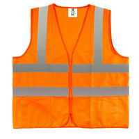 Orange High Visibility Reflective Class 2 Safety Vest erfect for construction workers, truck drivers, bikers, utility workers