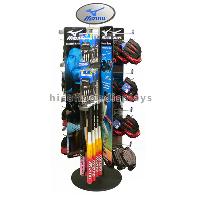 China Manufacturer Wholesales Sports Products Commercial Hanging Metal Baseball Bat Display Rack