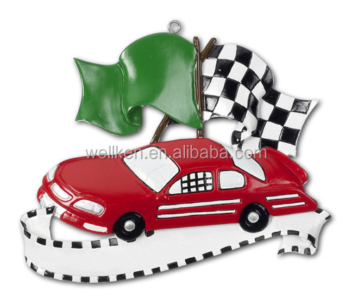 racing car ornaments C162