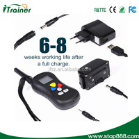 Dog electronic shock training collar 16 levels intensity adjustment and free combination among each training mode