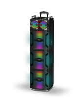 bluetooth professional active trolley woofer speaker With laser