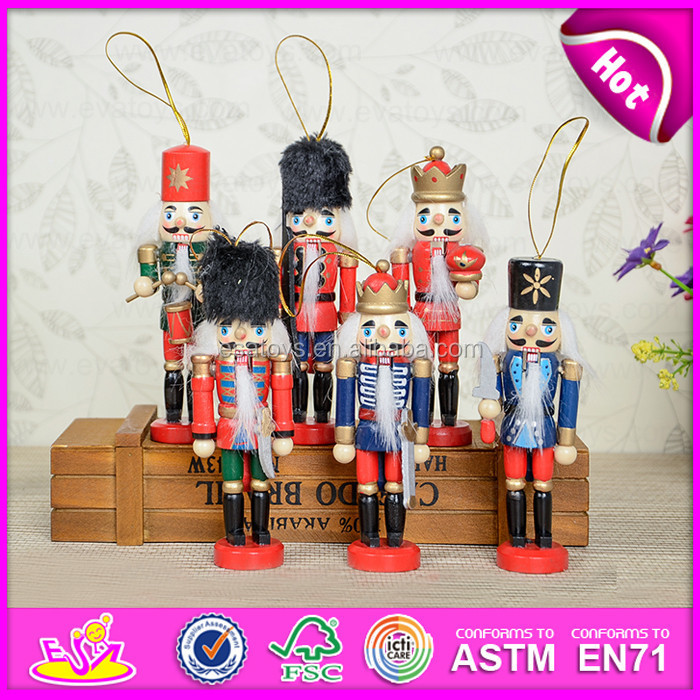 2015 Mini wooden nutcracker toy for kids,Wooden handle soldier nutcracker toy for children,Small nutcracker toy for sale W02A048
