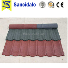 Popular classic colorful stone coated metal roofing tile/metal corrugated tile roofing/Stone Chip Coated Metal Roof Tile sheet
