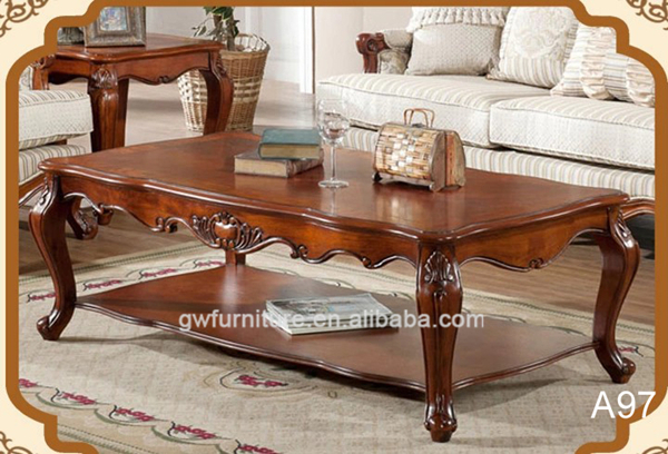 Classic living room center table hand carved coffee table for Furniture classics ltd coffee table