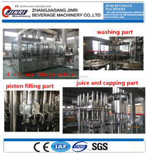juice pulp filling machine monoblock 4 in 1 filling machine