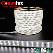AC110V / 220V working 180leds/m double row pure white 4000K smd 2835 led strip