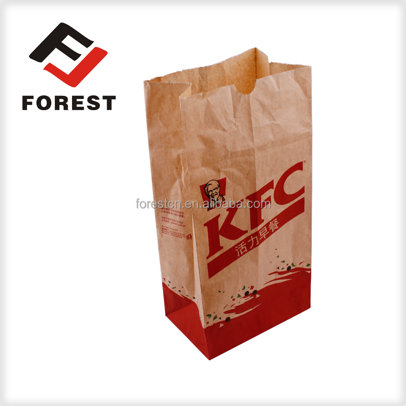 Supplied Square bottom food packaging bag, kraft paper bag , bread paper bag