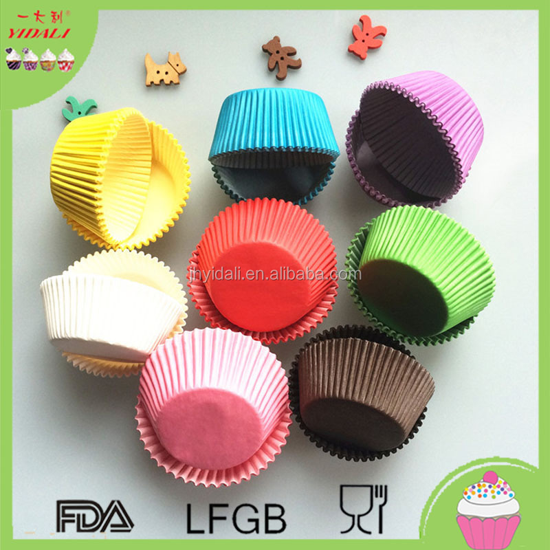 Mix color Pink,Yellow ,blue,green,white Purple,Paper Cake Cup Liners Baking Cup Muffin tray Cupcake Cases