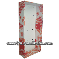 Christmas hanging ornament display stand,hanging wall cardboard display cabinets