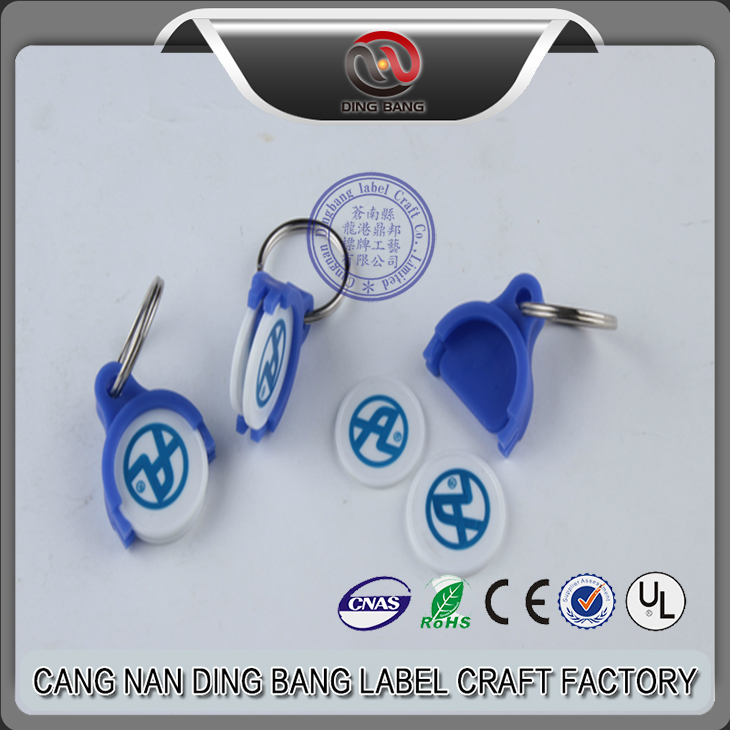 Wholesale Promotion Cheap Custom Made Logo Printed Double Coin Style And Trolly Coin Type Plastic Shipping Coin Holder