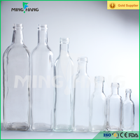 500ml 1000ml olive oil glass bottle with lid