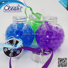 150g Crystal Beads hanging car air freshener/Christmas ball shape car perfume with colorful beads