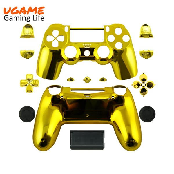 Wholesale price chrome gold replacement housing for playstation 4