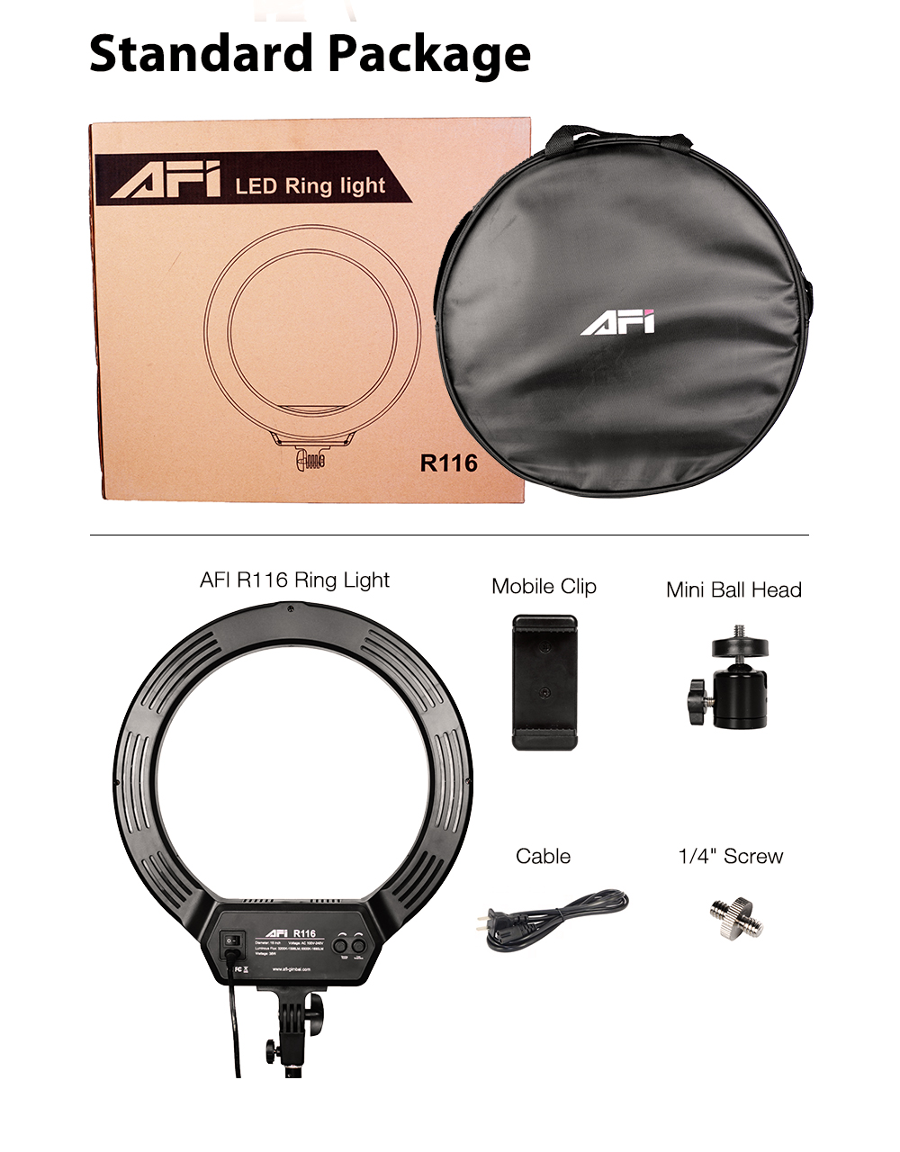AFI 16'' photography studio led beauty ring light  photography for makeup